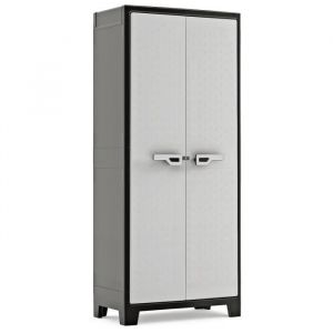 Keter | Armoire Haute TITAN, Noir/Gris, Cabinets, 80x44x182 cm