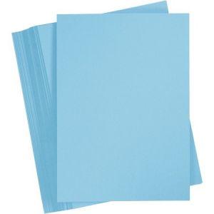 Creotime Papier cartonnée A4 - Bleu ciel - 100 feuilles de 180 g