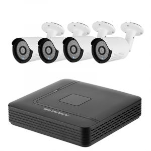 High-Tech Place A4B2 4 Channel AHD DVR System 4 HD IP66 720P Cameras