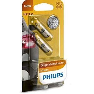 Philips 12036B2 Lot de 2 ampoules pour clignotant PREMIUM H6W