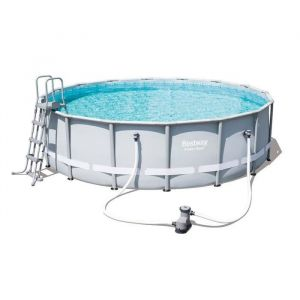 Bestway Kit Piscine Ronde Steel Pro Frame Pools diam. 488 cm h 122 cm