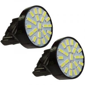 Aerzetix 2x ampoule 12V T20 7440 W21W W3x16D 22LED SMD blanc effet xénon