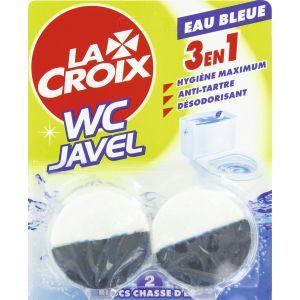 La croix Bloc pour chasse d'eau WC Javel - boîte de 2