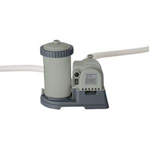 Intex 28634GS Épurateur à Cartouche, Environ 9,5 m³ / Heure, avec Interrupteur différentiel (220-240 V), Gris, 42 x 29 x 38 cm