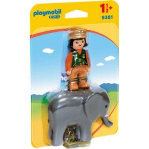 Playmobil 9381 - Soigneuse avec éléphanteau