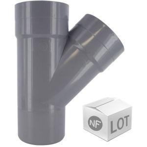 First Plast Lot de raccord PVC - 10 Culottes 45° Mâle-Femelle Ã%u02DC50
