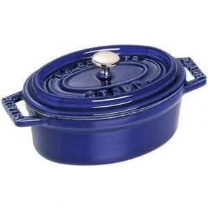 Staub Cocotte ovale 11 cm en fonte émaillée bleu intense Fondamentales