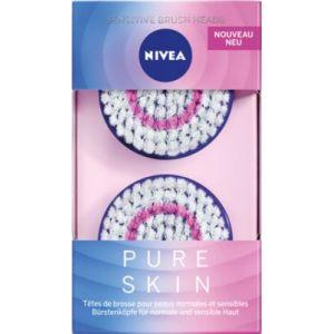 Nivea Têtes de brosse Pure Skin peaux normales et sensibles
