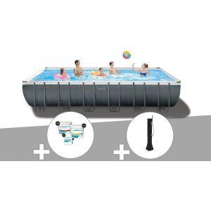 Intex Kit piscine tubulaire Ultra XTR Frame rectangulaire 7,32 x 3,66 x 1,32 m + Kit de traitement au chlore + Douche solaire