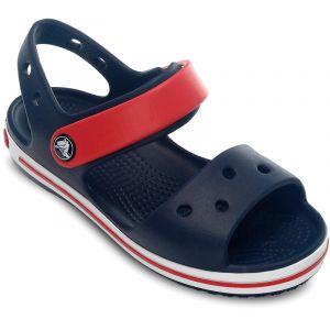 Crocs Crocband Sandal - Kids, Sandales Mixte Enfant, Bleu (Navy/Red) 28/29 EU