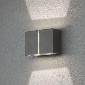 Konstsmide Applique d'extérieur LED Pavia, gris foncé