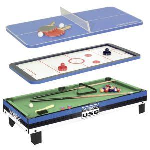 CDTS Table multi jeux 3 en 1
