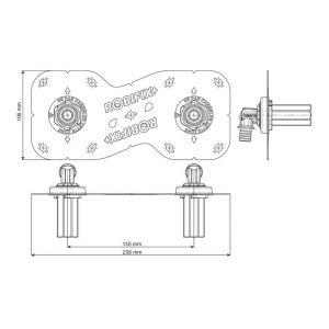 Watts Industries Sortie de cloison Robifix + entraxe 150 mm à sertir - Ø 16 mm - M 3/4'