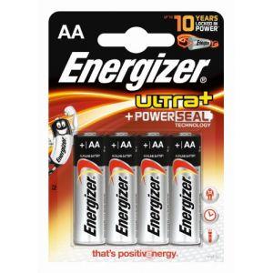 Energizer Pack de 4 piles AA (LR6) alcalines Ultra+