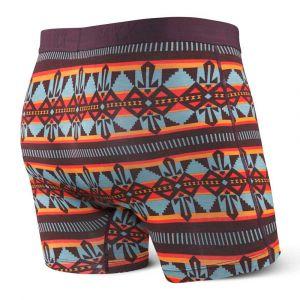 Saxx Underwear Saxx - Vibe Boxer Modern Fit - Sous-vêtements synthétiques taille S, noir/gris/rouge