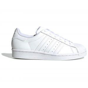 Adidas Superstar J, Basket Mixte Enfant, FTWR Blanc FTWR Blanc FTWR Blanc, 38 EU