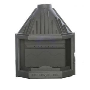 Ferlux 820 - Insert foyer de cheminée prismatique en fonte 17,5 kw