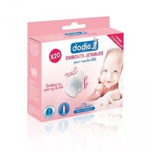 Dodie Lot de 20 embouts jetables pour mouche bébé