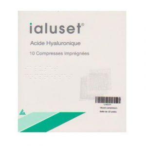 Laboratoires Genevrier Ialuset - Compresses à l'acide Hyaluronique (boîte de 10)