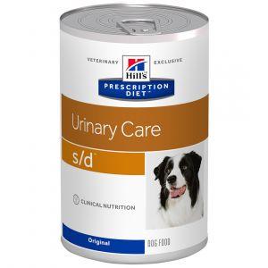 Hill's Prescription Diet s/d canine - 12 boîtes de 370 g