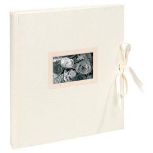 Exacompta 11154E - Album photos Kingsbridge 29x32 cm, 60p. ivoire/300 photos, reliure livre, ivoire