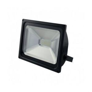 Vision-El Projecteur Plat Noir 50W (450W) IP65 Led BLANC Froid 6000°K -