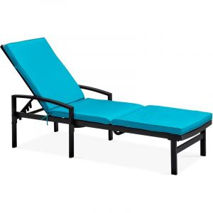Solys Coussin pour bain de soleil - Bleu