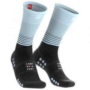 Compressport Chaussettes Mid Compression - Black / Ice Blue - Taille EU 35-38