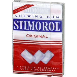 Stimorol Chewing-gum Sans Sucres - Les 5 Étuis De 14 G