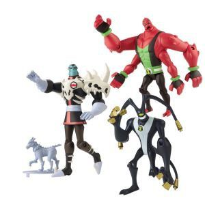 Bandai Ben 10 - Pack 3 figurines de 10 cm