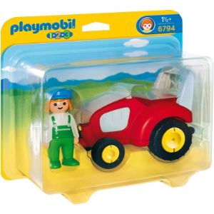 Playmobil 6794 - 1.2.3 : Agricultrice avec tracteur