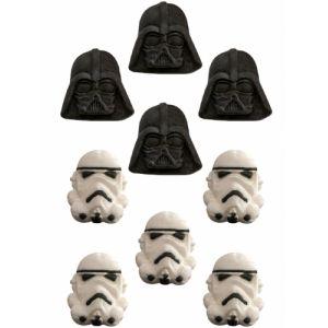 9 petites décorations en sucre Star Wars