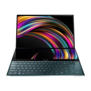 "Asus ZenBook Pro Duo UX581GV H2002 - Core i7 9750H / 2.6 GHz - Win 10 Pro - 16 Go RAM - 1 To SSD - 15.6"" OLED IPS écran tactile 3840 x 2160 (Ultra HD 4K) - GF RTX 2060 - Bluetooth, Wi-Fi - bleu céleste"