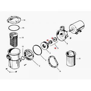 Procopi 512006 - Garniture mécanique de pompe Hayward SP1500 et SP1800