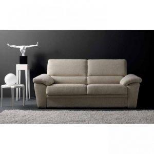 Inside75 EGO canapé grand confort tweed beige convertible ouverture RAPIDO 140*190cm ouverture facile