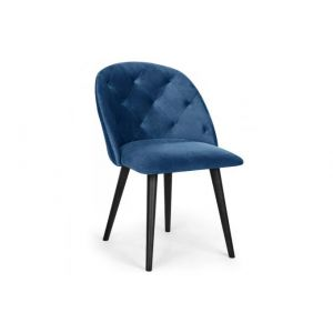 Declikdeco Chaise en Velours Bleu SALVATORIA