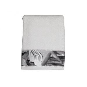 Soleil d'Ocre Beauty - Serviette de bain liteau imprimé en coton (50 x 90 cm)