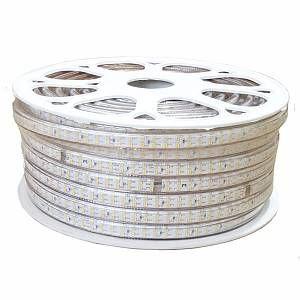 Ruban LED 220V 1M-50M SMD2835 180LED/m IP 44 (vendu sur mesure) - couleur eclairage : Blanc Froid 6000K - 8000K