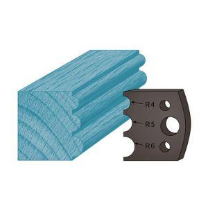 Diamwood Platinum Jeu de 2 contre-fers profilés Ht. 38 x 4 mm triple tourillons A90 pour porte-outils de toupie