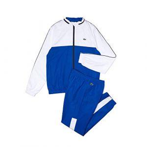 Lacoste Sport WH9563 Ensemble survêtement, Lazuli/Blanc-Marine, XS Homme