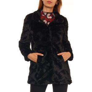 Vero Moda Veste imitation fourrure - noir