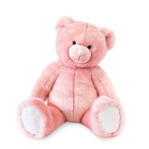 Doudou et Compagnie Ours collection 80 cm rose sorbet