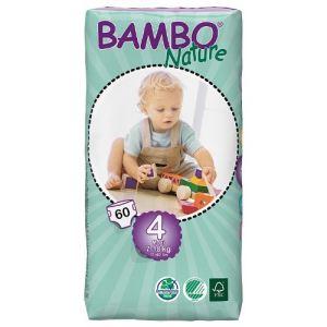 Bambo Nature Couches écologiques taille 4 Maxi 7-18 kg - paquet de 60