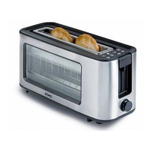 Domo Do444t - Grille-pain 1 fente avec hublot de contrôle
