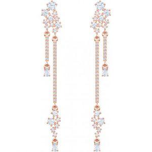 Swarovski Boucles d'oreilles 5486635 - Boucles d'oreilles Pendant Doré Rose Cristaux Blancs