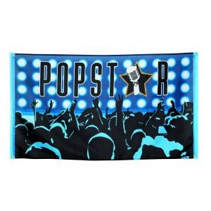 "Drapeau en polyester Disco ""Pop Star"""