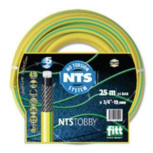Tuyau d'arrosage NTS Tobby 5 couches jaune diamètre 19mm longueur 25m