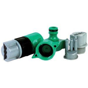 Set de raccord pour tuyau 3 voies - Filetage 20 x 27 mm