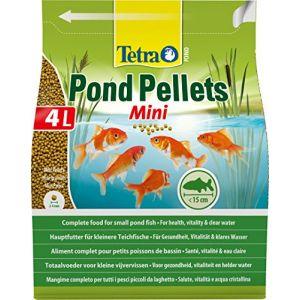 Tetra Aliment complet Pond Pellets Mini en granulés - Pour petit poisson de bassin - 4L