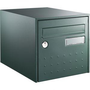 Decayeux Boîte aux lettres - simple face - volet anti bruit - vert - Steel Box